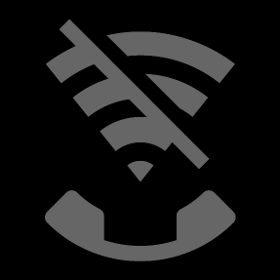 Wi-Fi Calling off icon