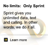Only Sprint offers truly unlimited data