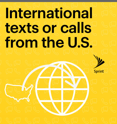international Call or text from the U.S.